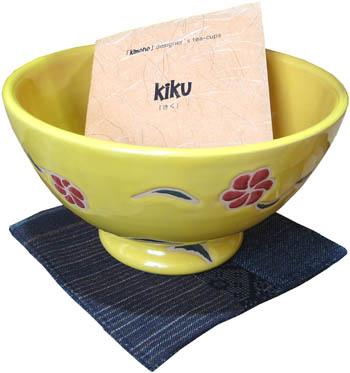 kiku (cup, coaster, wood box)