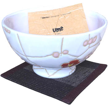 ume (cup, coaster, wood box)